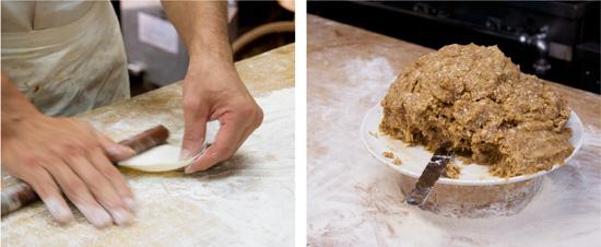 ギョウザ製造過程