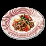 33-牛肉と野菜のXO醤炒め